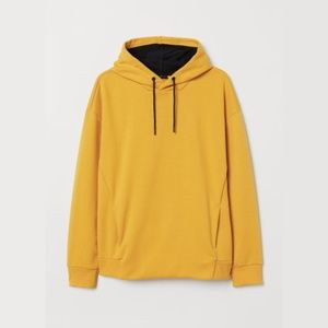 NWOT💛H&M Mustard Yellow Hoodie Size L